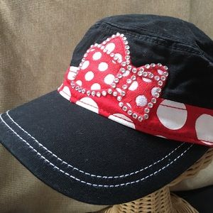 Disney Minnie Mouse Rhinestone Bow Cotton Hat
